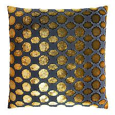 Mod Fretwork Velvet Pillow by Kevin O'Brien (Velvet Pillow)