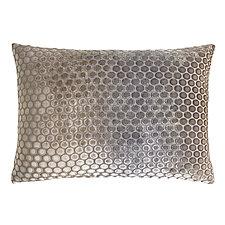 Dots Velvet Lumbar Pillow by Kevin O'Brien (Velvet Pillow)