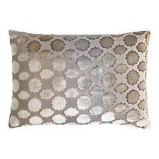Mod Fretwork Velvet Lumbar Pillow by Kevin O'Brien (Velvet Pillow)