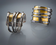 Zen Wrap Ring by Patricia McCleery (Gold & Silver Ring)