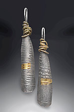 Zen Wrap Earrings by Patricia McCleery (Gold & Silver Earrings)