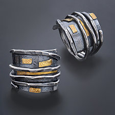 Textured Wrap Ring by Patricia McCleery (Gold & Silver Ring)