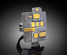 Zen Layer Ring by Patricia McCleery (Gold & Silver Ring)