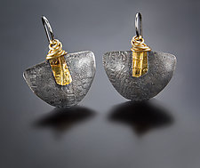 Zen Demi-Lune Earrings by Patricia McCleery (Gold & Silver Earrings)