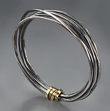 Wrapped Bangle by Patricia McCleery (Gold & Silver Bracelet)