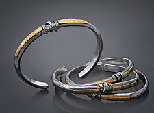 Zen Wrapped Cuff by Patricia McCleery (Gold & Silver Bracelet)
