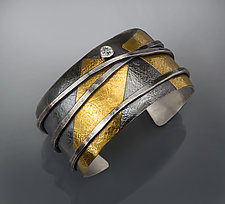 Wrap Silver and Gold Cuff by Patricia McCleery (Gold & Silver Bracelet)