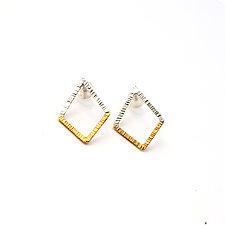 Geo Stud Earrings by Hsiang-Ting  Yen (Gold & Silver Earrings)