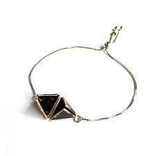 Reveal Bolo Tie Bracelet by Hsiang-Ting  Yen (Gold, Silver & Enamel Bracelet)
