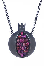 Pomegranate Necklace by Boline Strand (Silver & Stone Necklace)