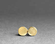 River Stone Studs by Boline Strand (Gold Earrings)