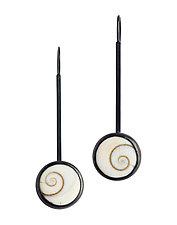 Operculum Earrings by Boline Strand (Silver & Shell Earrings)