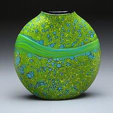 Green Strata Vase by Thomas Spake (Art Glass Vase)