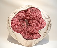 Coral Disk I by Jeff Margolin (Ceramic Sculpture)