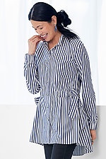 Striped Lennox Cinched Shirt by Mona Thalheimer  (Woven Shirt)