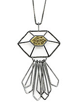 H|G Radiant Pendant by Jera Lodge (Gold, Silver & Steel Necklace)
