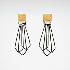 H/G Square Drop Earrings by Jera Lodge (Gold & Silver Earrings)