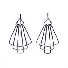 Deco Tier Mini Earrings in Silver by Jera Lodge (Silver Earrings)