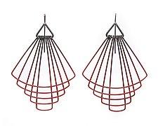 Deco Fan Earrings by Jera Lodge (Silver & Steel Earrings)