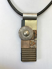 Art Necklace 209 by Shirley Wagner (Mixed-Media Necklace)