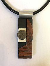 Art Necklace 505 by Shirley Wagner (Mixed-Media Necklace)