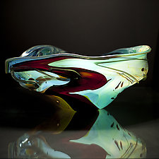 Salado Glassworks Signature Bowl XV by Gail Allard (Art Glass Bowl)