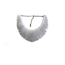 VLA Bib Necklace by Karole Mazeika (Leather Necklace)
