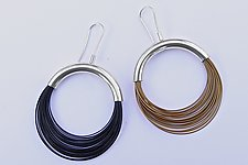 Sleek Wire Earrings by Laurette O'Neil (Steel Earrings)