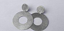 Hollow Earrings by Laurette O'Neil (Silver Earrings)