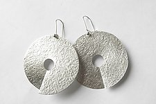 Severed Moon Earrings by Laurette O'Neil (Silver Earrings)