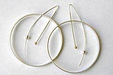 Silver Annulus Earrings by Laurette O'Neil (Silver Earrings)