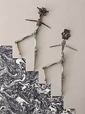 High Steppers by Kiffi Diamond (Mixed-Media Wall Hanging)