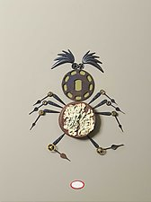 Laughing Spider by Kiffi Diamond (Mixed-Media Wall Hanging)