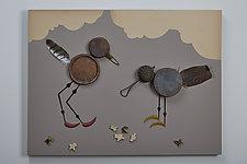 Birdscape by Kiffi Diamond (Mixed-Media Wall Hanging)