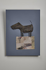Smooth Dog by Kiffi Diamond (Mixed-Media Wall Hanging)