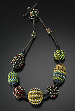 Cosmos Necklace by Sheila Fernekes (Glass Bead Necklace)