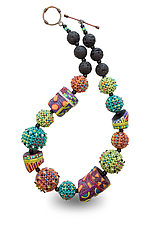 Colores del Sol Necklace by Sheila Fernekes (Glass Bead Necklace)
