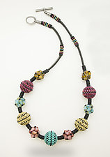 Color Burst Necklace by Sheila Fernekes (Glass Bead Necklace)
