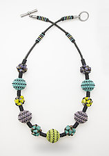 Color Burst Necklace by Sheila Fernekes (Glass Bead Necklace)