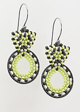 Art Deco Earrings by Sheila Fernekes (Glass Bead Earrings)