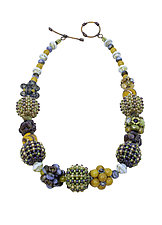 Monet Garden Necklace by Sheila Fernekes (Glass Bead Necklace)