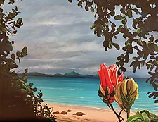 Honeymoon Beach by Hunter Jay (Acrylic Painting)