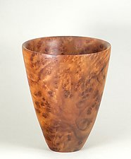 Vase Form Turned from Camphor Burl by Eric Reeves (Wood Vase)