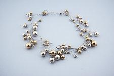 Star Spray Necklace by Elizabeth Earle (Gold & Silver Necklace)
