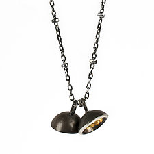Acacua Duo Drop Pendant by Emily  Hunziker Phillips (Gold & Silver Necklace)