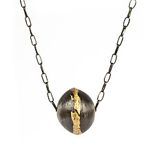 Acacia Pod Pendant by Emily  Hunziker Phillips (Gold & SIlver Necklace)