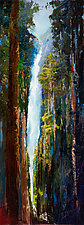 Yosemite Waterfall by Heather Fields (Oil Painting)