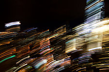 City at Night by Sebastiano Tecchio (Color Photograph)
