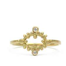 Sia Diamond Marquise Ring by Marian Maurer (Gold & Stone Ring)