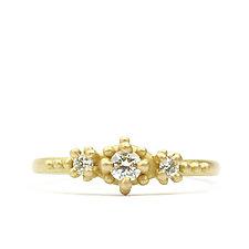 Ariel Three-Stone Diamond Ring by Marian Maurer (Gold & Stone Ring)